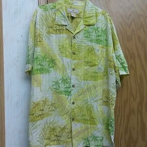 Paradise Collection Shirt Large Hawaiian Palm